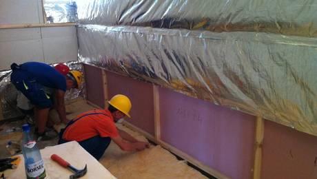 Izolarea termica a saunei