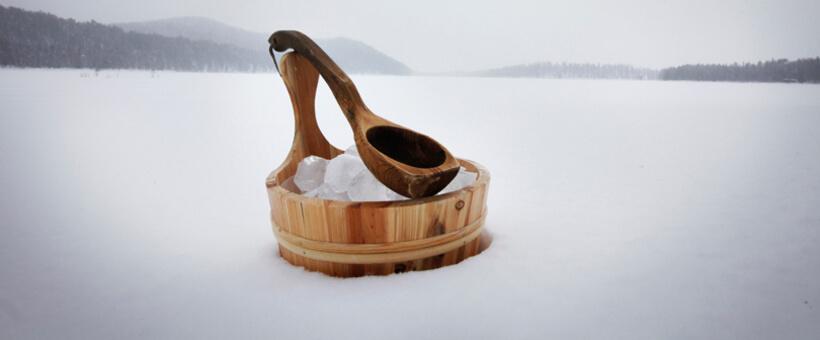 sauna iarna